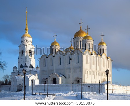 The Cathedral of the Assumption at Vladimir in winter