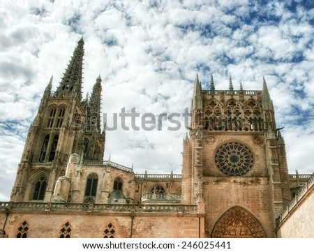 The Cathedral of the Good Shepherd on a sunny day in San Sebastian. - stock photo
