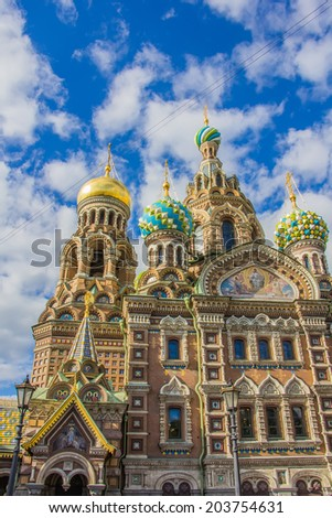 The cathedral of the Savior on Spilled Blood
