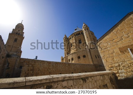 The Cathedral on the Golgotha mount, Jerusalem - stock photo