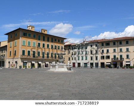 The Cathedral Square - Beautiful renaissance square in Prato, Tuscany, Italy