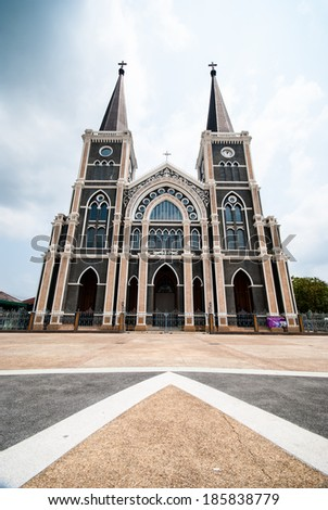 The Catholic cathedral in Chantaburi, Thailand - stock photo