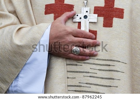 The catholic priest - stock photo
