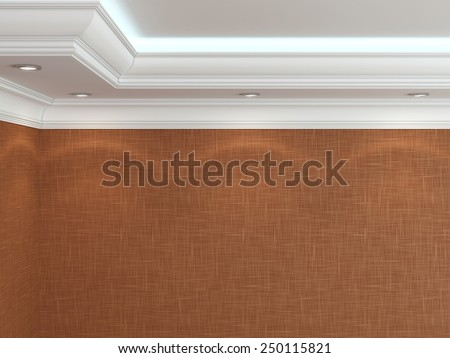 The ceiling in a classic style.  3d rendering - stock photo
