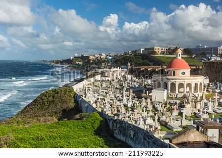The Cemetery Santa Maria Magdalena, San Juan Puerto Rico - stock photo
