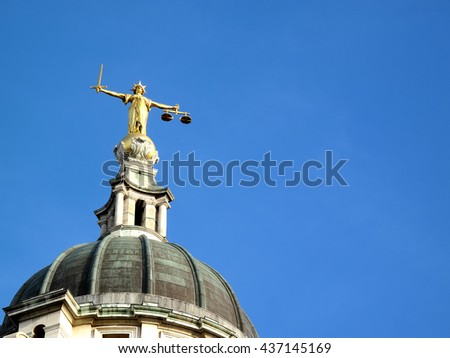 The Central Criminal Court fondly known as The Old Bailey, London, England, UK
