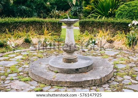 The Central Sundial Of The Garden