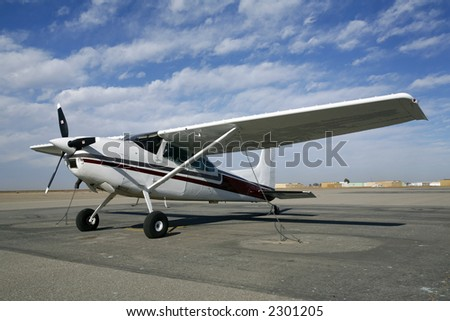 The Cessna 180, no longer in production, is a pilot favorite - stock photo