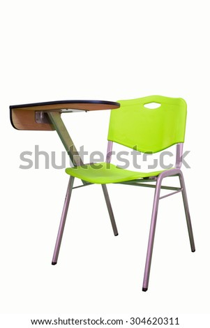 The Chair Lecture green isolated on white background