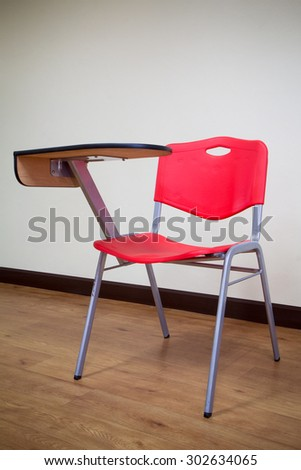 The Chair Lecture red in the room - stock photo