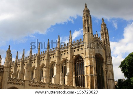 The Chapel of King s College, Cambridge, England - stock photo