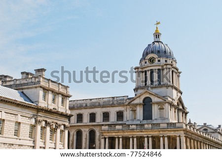 The Chapel of St Peter and St Paul, Queen Mary Court, Old Royal Naval College, Greenwich, London, England, UK