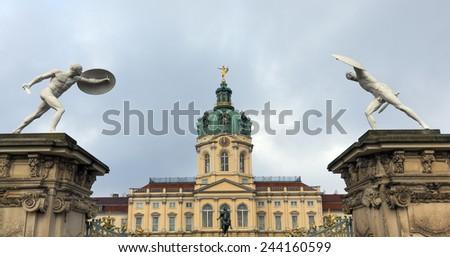 The Charlottenburg Palace in Berlin - stock photo
