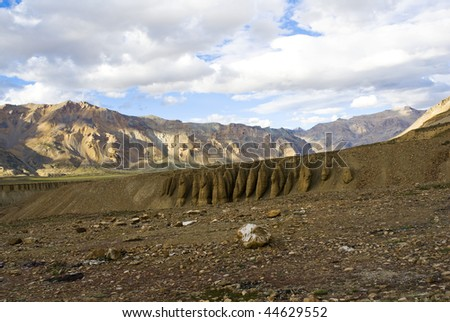 the charming views spotted in jammu kashmir ladakh state - stock photo