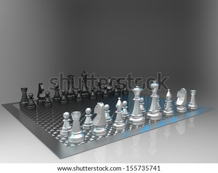 the  Chess on a gray background