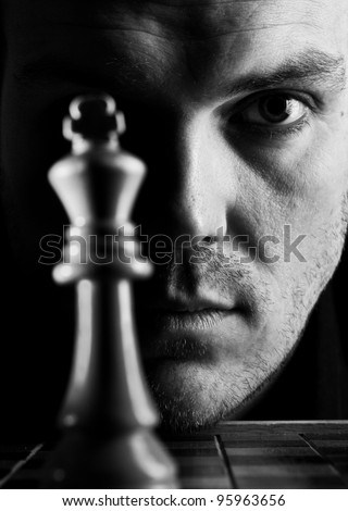 The chess player - stock photo
