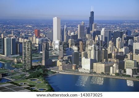 The Chicago Skyline, Chicago, Illinois - stock photo