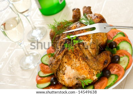 The chicken - stock photo