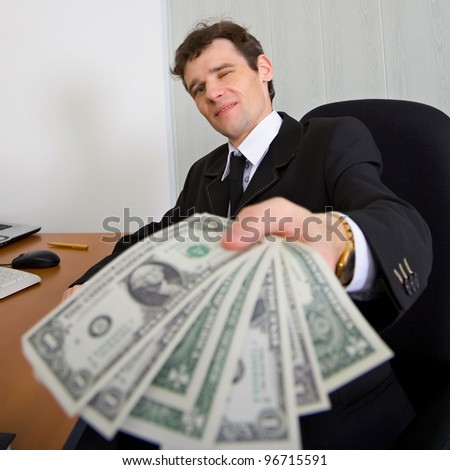 The chief gives the award - stock photo