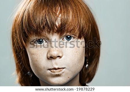 The child close up - stock photo