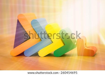 the child's toy, wooden herringbone - stock photo