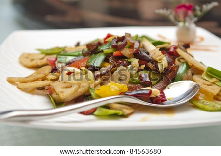 The Chinese restaurant dishes, cold dishes