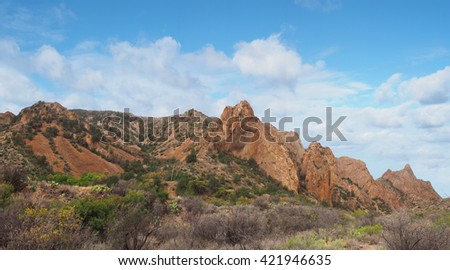 The Chisos Basin Big Bend National Park, Texas - stock photo