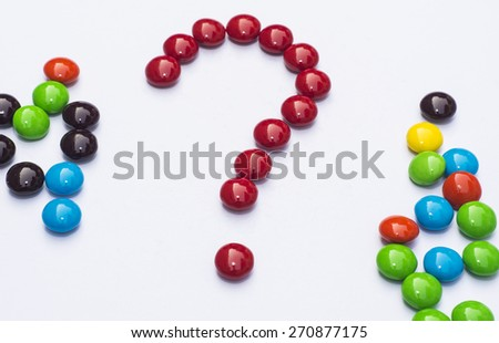 The chocolate candy is placed on a white background. - stock photo