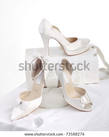 The choice of beautiful bride's shoes for beautiful bride