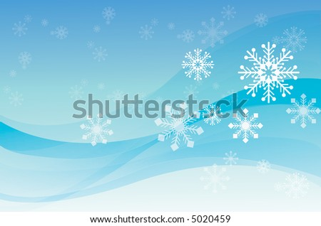 The christmas background with snowing