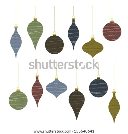 The christmas ornament fabric texture.