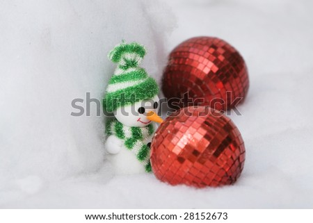 The christmas ornament with the christmas tree. - stock photo