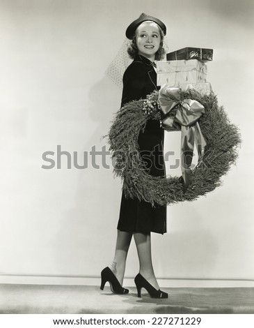 The Christmas spirit - stock photo