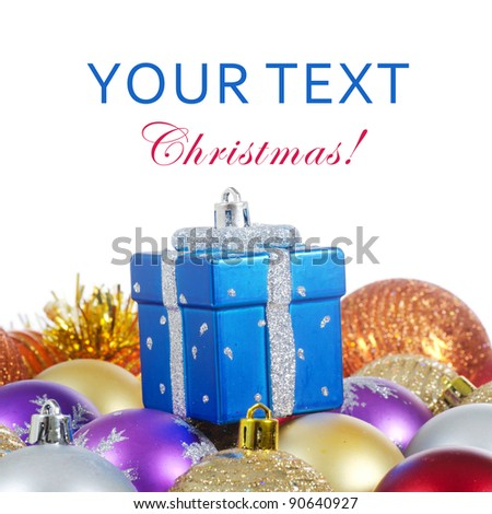 The christmas tree ball sa a background - stock photo