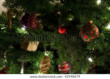 The Christmas tree is a decorated evergreen coniferous tree, real or artificial, and a popular tradition associated with the celebration of Christmas.