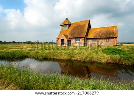The church at Fairfield on Romney Marsh in the Kent countryside