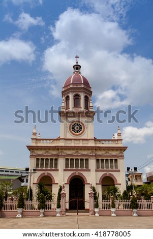 The church in thailand - stock photo