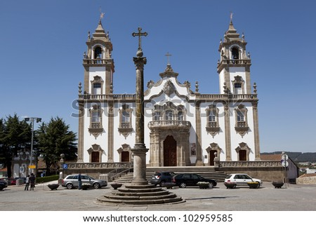 The Church of Mercy in Viseu, Portugal. - stock photo