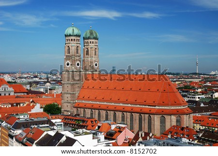 The Church of Our Lady (Frauenkirche) in Munich (Germany, Bavaria). - stock photo