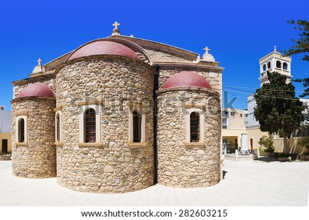 The church of Saint George in the town of Lerapetra on Crete. - stock photo