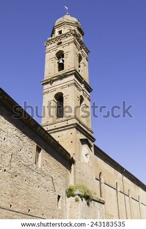 The Church of San Niccolo in Siena on a sunny day - stock photo