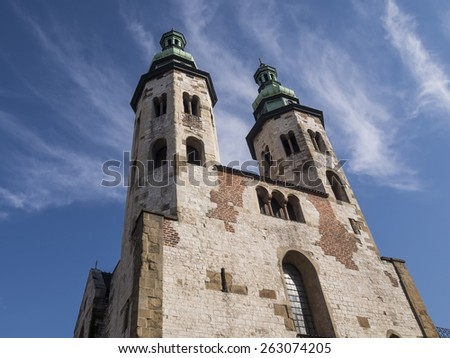 The Church of St. Andrew in the Old Town district of Krakow - Poland - stock photo