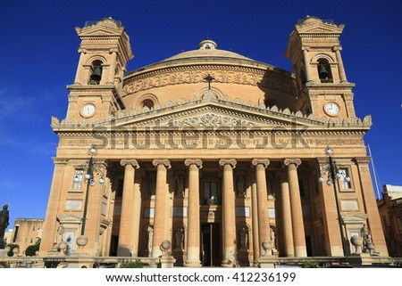 The Church of the Assumption of Our Lady or Rotunda of Mosta, Malta - stock photo