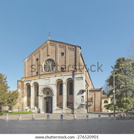 The Church of the Eremitani, or Church of the Hermits, is an Augustinian church of the 13th century in Padua, northern Italy - stock photo