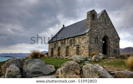 The Church of the Good Shepherd, New Zealand - stock photo