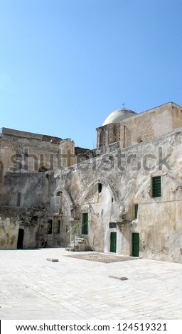 The Church of the Holy Sepulchre, called the Church of the Resurrection - stock photo