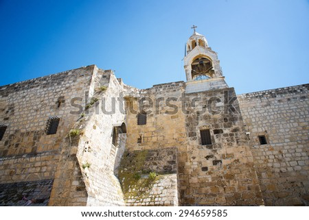 The Church of the Nativity is a basilica located in Bethlehem - stock photo