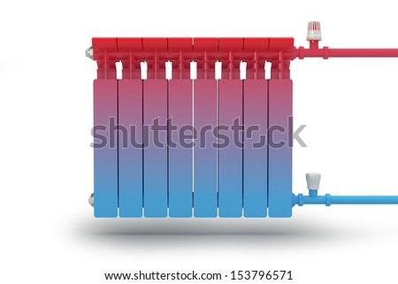 The circulation of heat flow in the radiator heating system. - stock photo