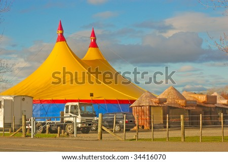 The circus comes to Masterton, New Zealand - stock photo