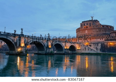 The Citadel towered above the river Tiber